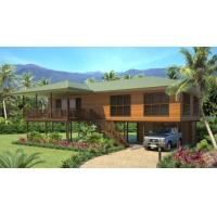 Light Steel Wooden House Bungalow / Luxury Beach Bungalows For Thailand Manufactures