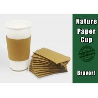 Food Containers Paper Cup Sleeves Eco - Friendly For Chicken / Popcorn Manufactures