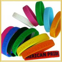 durable eco-friendly printed fashion charm silicone bracelet Manufactures