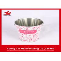 China 0.23 MM Tinplate Material Metal Tin Bucket For Candy Gifts Packaging Promotion Purpose on sale