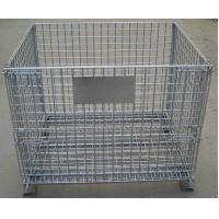 China Storage Cage,Wire Mesh Container,Supermarket Mesh Container,Mesh Basket,50x50mm,50x100mm opening on sale