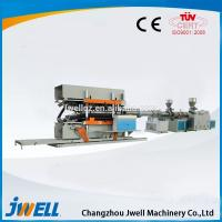 China Jwell HDPE/P6P/PVC Vertical Type Double Wall Corrugated Pipe and PVC Ribbed Pipe Extrusion Line on sale