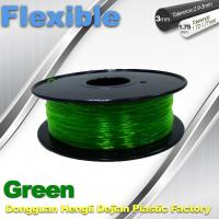 Green 0.8kg / Roll Flexible 3D Printer Filament Environmentally Friendly Manufactures