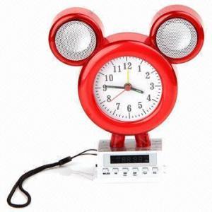 China Novelty Mini Speaker, Alarm Clock Shape, Suitable for Computers on sale