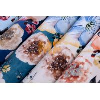 Home Furniture Beautiful Velboa Fabric , Multi - Colored Floral Upholstery Fabric Manufactures