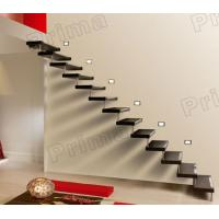 Floating Solid Wood Straight Stairs Manufactures
