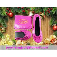 China Very light, Thin Material High Grade Folding Ballet Slippers for Christmas Holiday Promotion Gift on sale