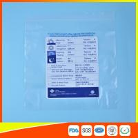 Reclosable Plastic Ziplock Pill Bags Self Seal , Clear Resealable Poly Bags