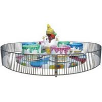 Rotating Amusement Coffee Cup Family Fun Ride For Fairground , 24 Passengers Manufactures