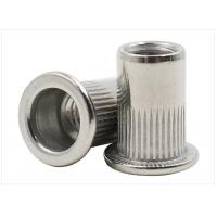 China Stainless Steel Flat Head Ribbed Rivet Nuts , Grade 4.8 Grade 12.9 Knurled Rivet Nut on sale