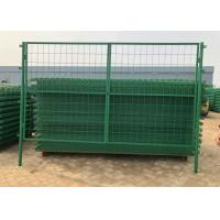 Green Pvc Coated Welded Wire Mesh Fence For Parks / Zoos / Nature Reserves