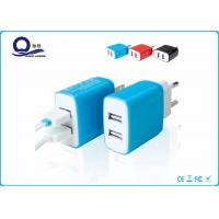 5V 2.4A Dual Port Smart Iphone USB Charger For Samsung Cellphone / Mobile Phone Manufactures