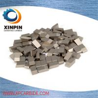 High Wearable Tungsten Carbide Saw Tips For Hardwood , Carbon Steel , Cork, YG6 ,YG6X Manufactures