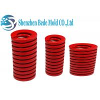 Red Heavy Duty Mold Spring / Industrial Compression Spring ISO10243 Standard Manufactures