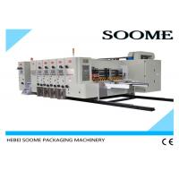4 Colors Flexo Printer Slotter Die Cutter Rotary Water Based Printing With Glazer Dryer Manufactures