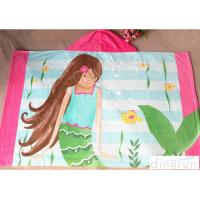 China 60*120cm Lightweight Hooded Poncho Towels For Children Easy Dry wholesale