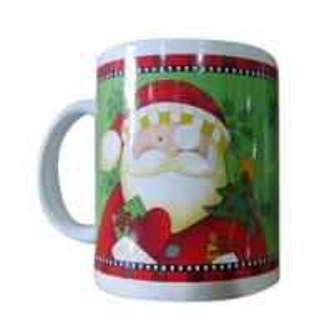 China 11oz Full Decal Stoneware Mug with Santa Claus Design,SA8000/SMETASedex/BRC/ISO/BSCI Audit on sale