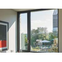 Black Color Thermal Break Aluminium Fabrication Windows With S Glazed Insulated Glass Manufactures