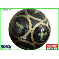 China Black Official Size Customized Soccer Balls With Name , 280g ~ 320g on sale