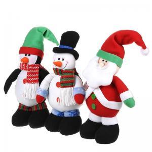 Cute Christmas Stuffed Santa Doll Snowman Plush Toy for Children Manufactures