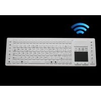 China Wireless washable keyboard with touch pad for medical application, silicone material on sale