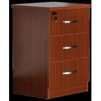 China Red Medical Hospital Bedside Table With Locking Drawer 500x450x760mm on sale