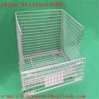 welded wire mesh security cage/pallet cage/storage cage/metal bin/metal storage building/metal storage sheds/wire cage Manufactures