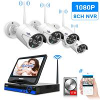 10Inch Displayer 4pcs 960P 1080P Wireless IP Camera CCTV System 8CH NVR wifi video surveillance home Security System Kit Manufactures