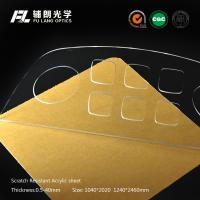 4mm High Gloss Scratch Resistant Acrylic Sheet Pass R.C.A Test , Innovative Coating Ability Manufactures