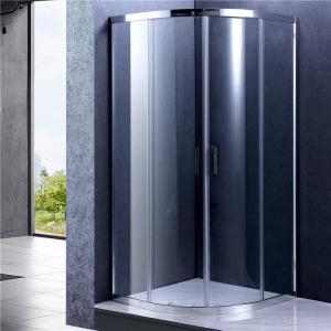 China Chrome Frame Quad Sliding Shower Enclosure , Glass Bathroom Shower Door on sale