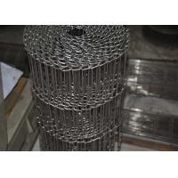 China Food Processing Flat Wire Mesh Conveyor Belt Smooth Surface , Alkali Resistant on sale