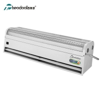 China Size 1.5m Water Source Thermal Air Curtain Overdoor Fan Evaporator Heating RM-3515-S on sale