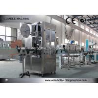 Water Bottle Labeling Equipment Automatic Sleeve / Shrink Label Machine Manufactures