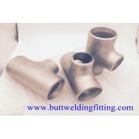 Buy cheap Butt Weld Fittings 2''x1-1/2'' SCH10S Copper Nickel 90/10 ASME B16.9 Concentric Tee from wholesalers