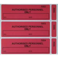 Polyester VOID Tamper Evident Sealing Labels with Red Yellow Black Blue White Gray colors Manufactures