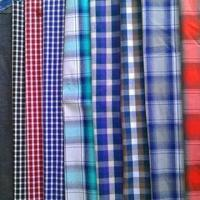 Cotton Yarn-dyed Fabric, Checked and Striped Types are Available, Available in 57/58 Inches Width Manufactures