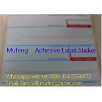2 Colors Print Direct Thermal Label Roll Edge Distance 1.5mm Gap Distance 3mm Manufactures
