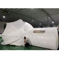 China White Inflatable Tent For Hotel / PVC Tarpaulin Steel Frame Tent With Oxford Curtain on sale