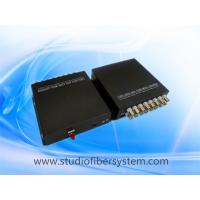 Compact 16 channel analog video fiber converter for 16CH HD video and 1ch RS485 over 1 single mode fiber Manufactures