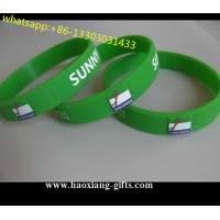 promotional printed logo fashion glowing in the dark silicone wristband/bracelet Manufactures