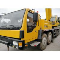2014 Year Used QY70K Xcmg 70 Ton Crane , 2nd Hand Mobile Cranes Yellow Color Manufactures