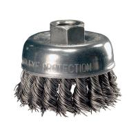 China Industrial Polishing Steel Rust Cleaning Brush , Wire Disc Angle Grinder Cup Brush on sale
