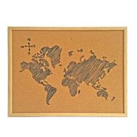 China Fashion Cork Board Memo Board with MDF Fame for Office or School on sale