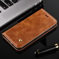 Oily Vintage Iphone 7 Leather Wallet Case , Full Protection Magnetic Wallet Case Manufactures