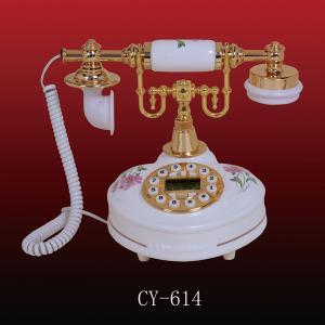 China Antique ceramic telephone (CY-614), ployresin resin corded and cordless antique telephone christmas gift OEM on sale