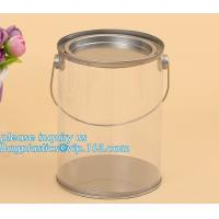 100ml pet clear plastic can,fruit candy tin container jars with aluminum lid,1 gallon clear paint can size bagease pack