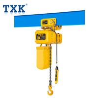 Electric Hoist Trolley With Imported Chain , Overload Protection 3 Ton Electric Chain Fall Hoist Manufactures