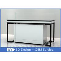 Black S / S Metal Frame Jewelry Display Cases / Jewellery Counter Manufactures