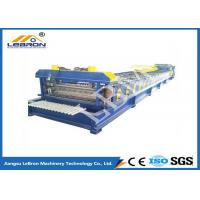 Quality Bule And Yellow Color Steel Roll Forming Machine 3kW Hydraulic Unit Motor Power for sale