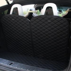 TOPFIT 3rd Row Back Seat Protector Mat For Tesla Model X(2 of Set, Black) Manufactures